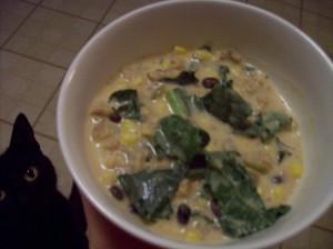 cream soup in bowl