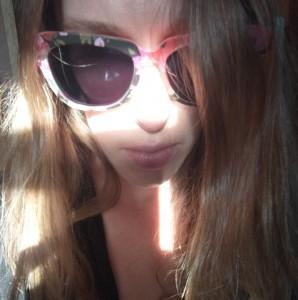 close up face hair sunglasses