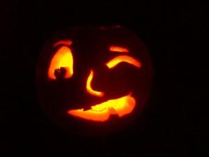 winking jack-o-lantern
