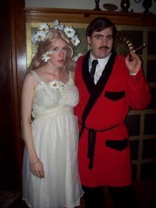 Gomez Addams and Ophelia Frump