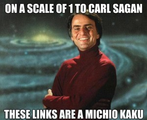 on a scale of 1 to carl sagan