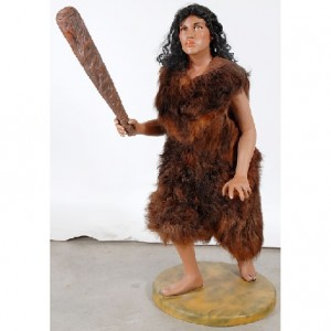 cavewoman with club