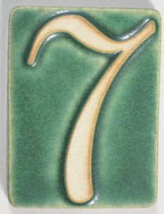 number seven green white