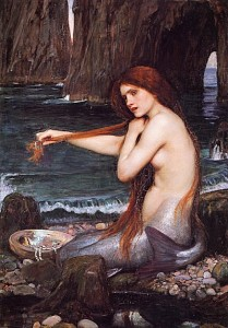 waterhouse painting mermaid